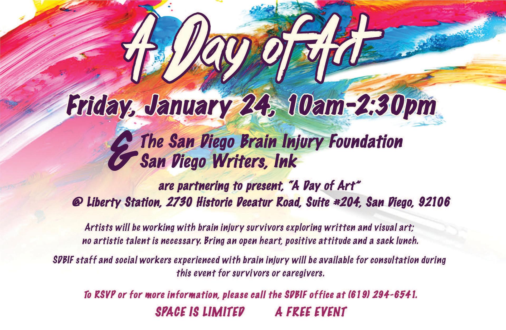SDBIF Day of Art January 2020